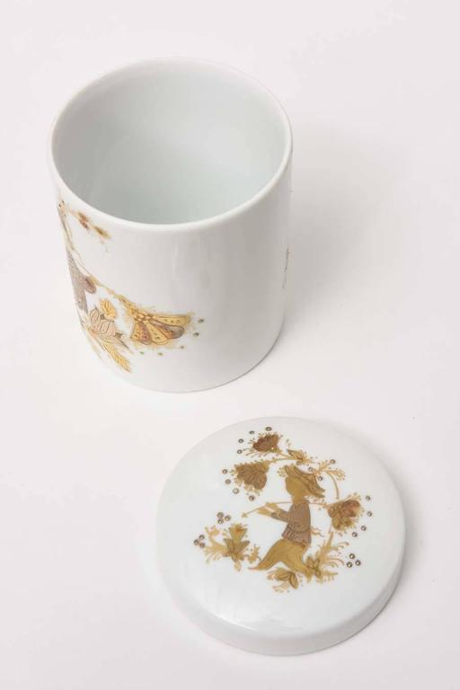 Mid-20th Century Lidded Box and Canister Dresser Set by Bjorn Wiinblad for Rosenthal For Sale