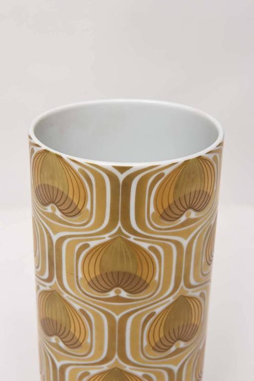 Mid-Century Modern 1970s Porcelain Cylinder Vase by Bjorn Wiinblad for Rosenthal For Sale