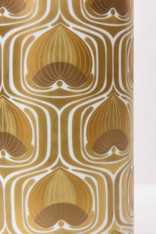 1970s Porcelain Cylinder Vase by Bjorn Wiinblad for Rosenthal In Excellent Condition For Sale In North Miami, FL