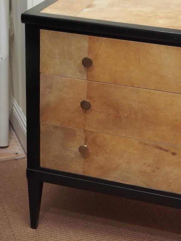 1950s Penquay Parchment Commode In Good Condition For Sale In New Orleans, LA