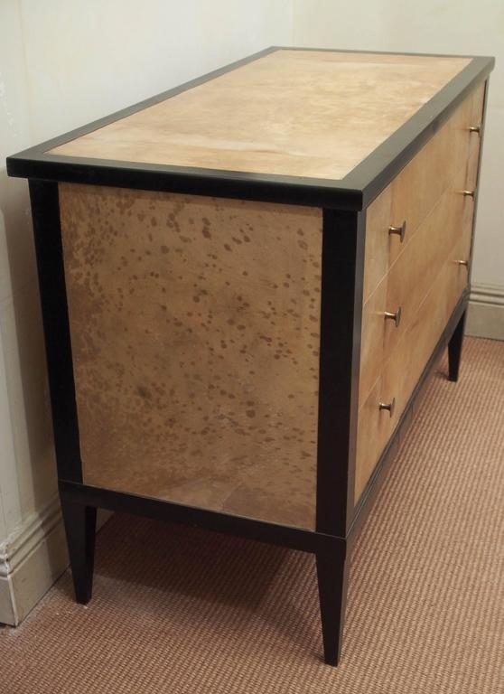 Wood 1950s Penquay Parchment Commode For Sale