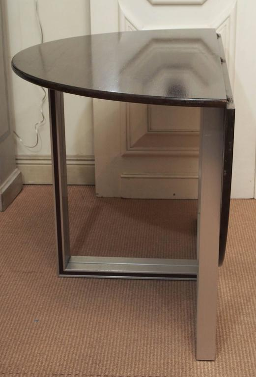 French Drop-Leaf Circular Table, 20th Century For Sale
