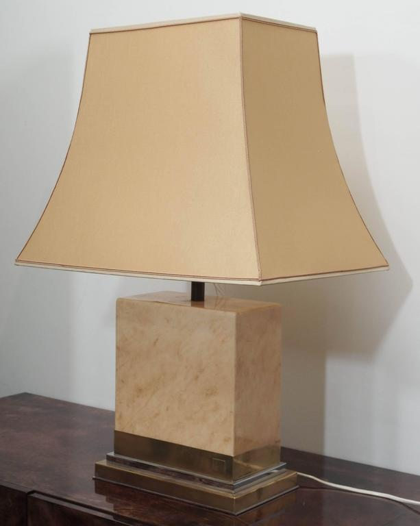 Bronze Pair of Lacquered Table Lamps after Design of Jean Claude Mahey For Sale