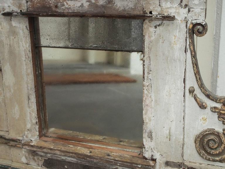 19th Century Mercury Glass Mirror, French For Sale