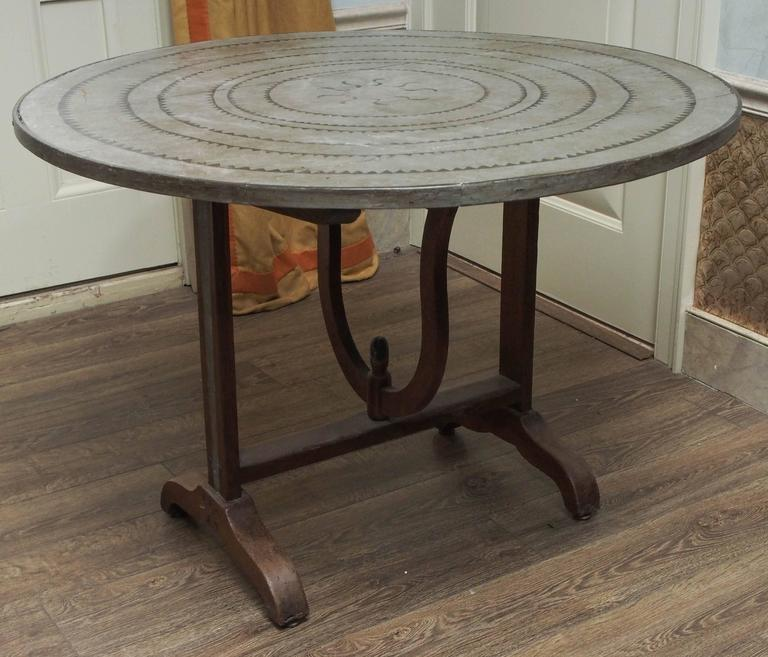 French Oak Wine Table For Sale