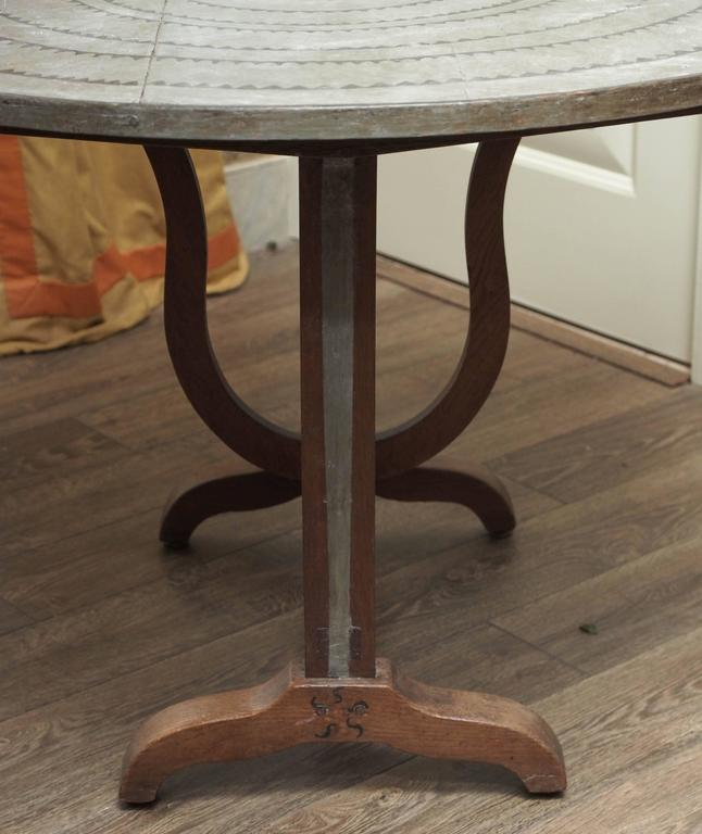 Oak Wine Table In Good Condition For Sale In New Orleans, LA