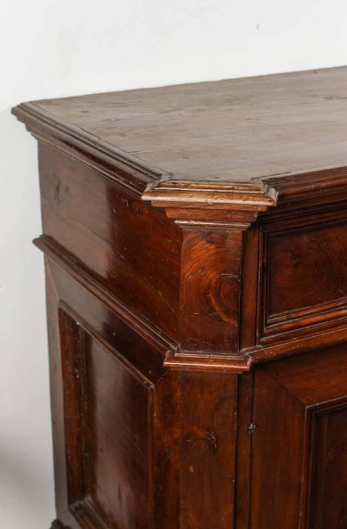 Th century tuscan solid walnut buffet for sale at stdibs