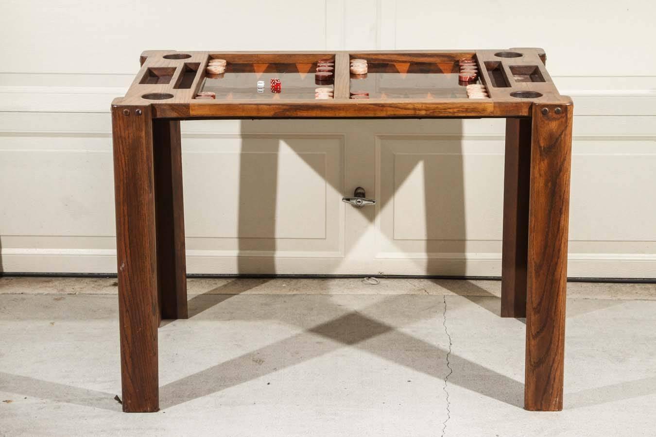 Vintage Backgammon Game Table At 1stdibs