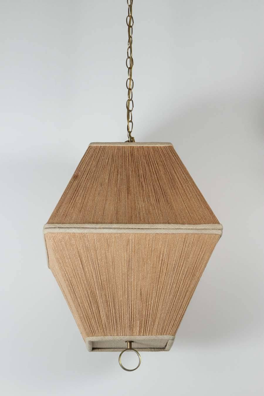String Shaded Lantern Style Chandelier or Pendant at 1stdibs