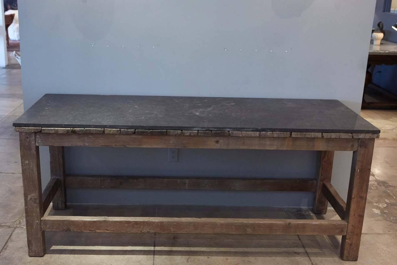 French Slate Top Console, circa 1800s For Sale at 1stdibs