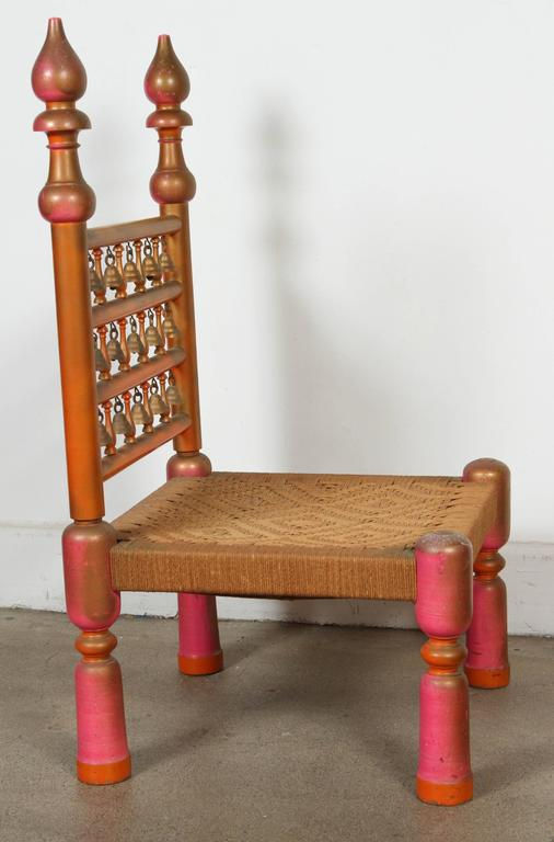 Bohemian Rajasthani Indian Style Side Chair For Sale