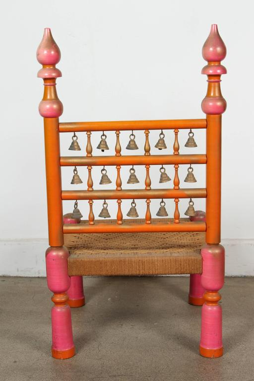 Hand-Crafted Rajasthani Indian Style Side Chair For Sale