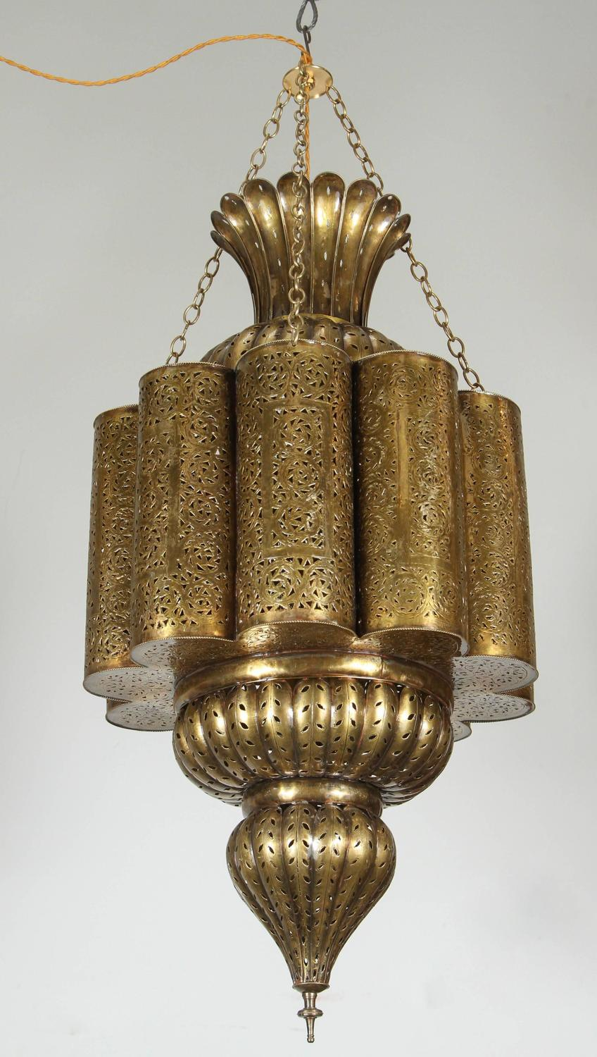 Moorish Moroccan Brass Chandelier For Sale At 1stdibs