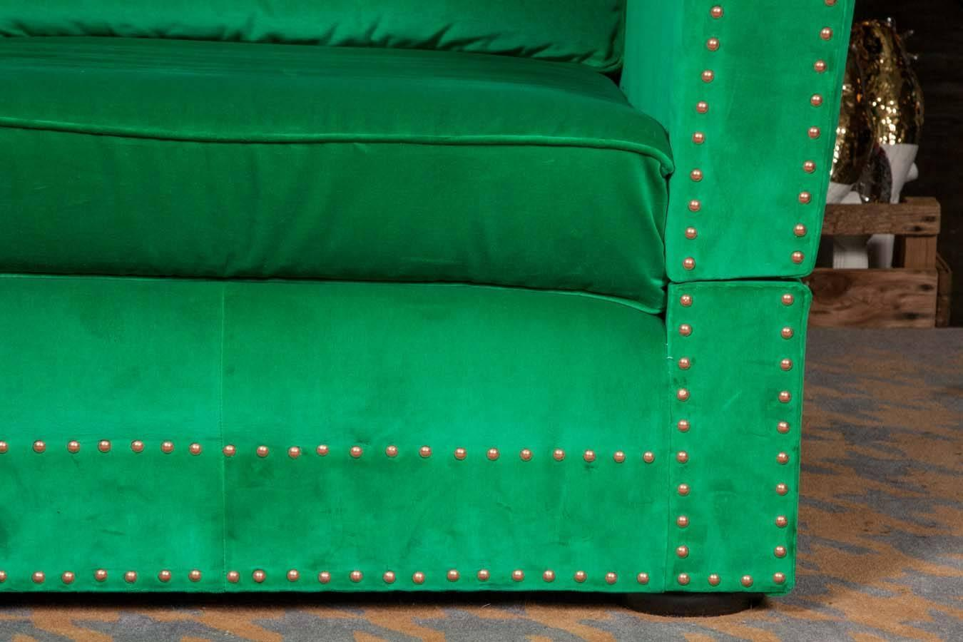 Bespoke Green Velvet Carrington Sofa By Pitfield London For Sale At 1stdibs
