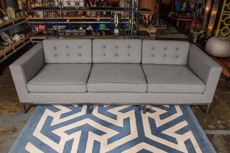 Bespoke Grey Houndstooth Wool Pitfield Sofa by Pitfield London 2