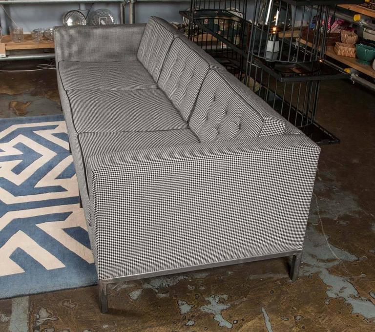 Bespoke Grey Houndstooth Wool Pitfield Sofa by Pitfield London 6