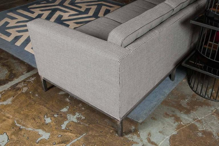 Bespoke Grey Houndstooth Wool Pitfield Sofa by Pitfield London 7