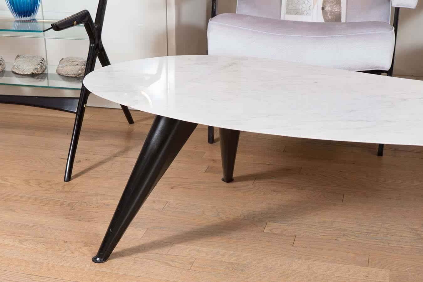 Marble Boomerang Shaped Coffee Table At 1stdibs
