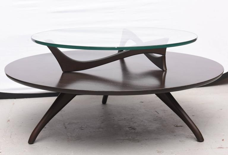 Walnut Kagan Two Tiered Coffee Table 1960s USA At 1stdibs