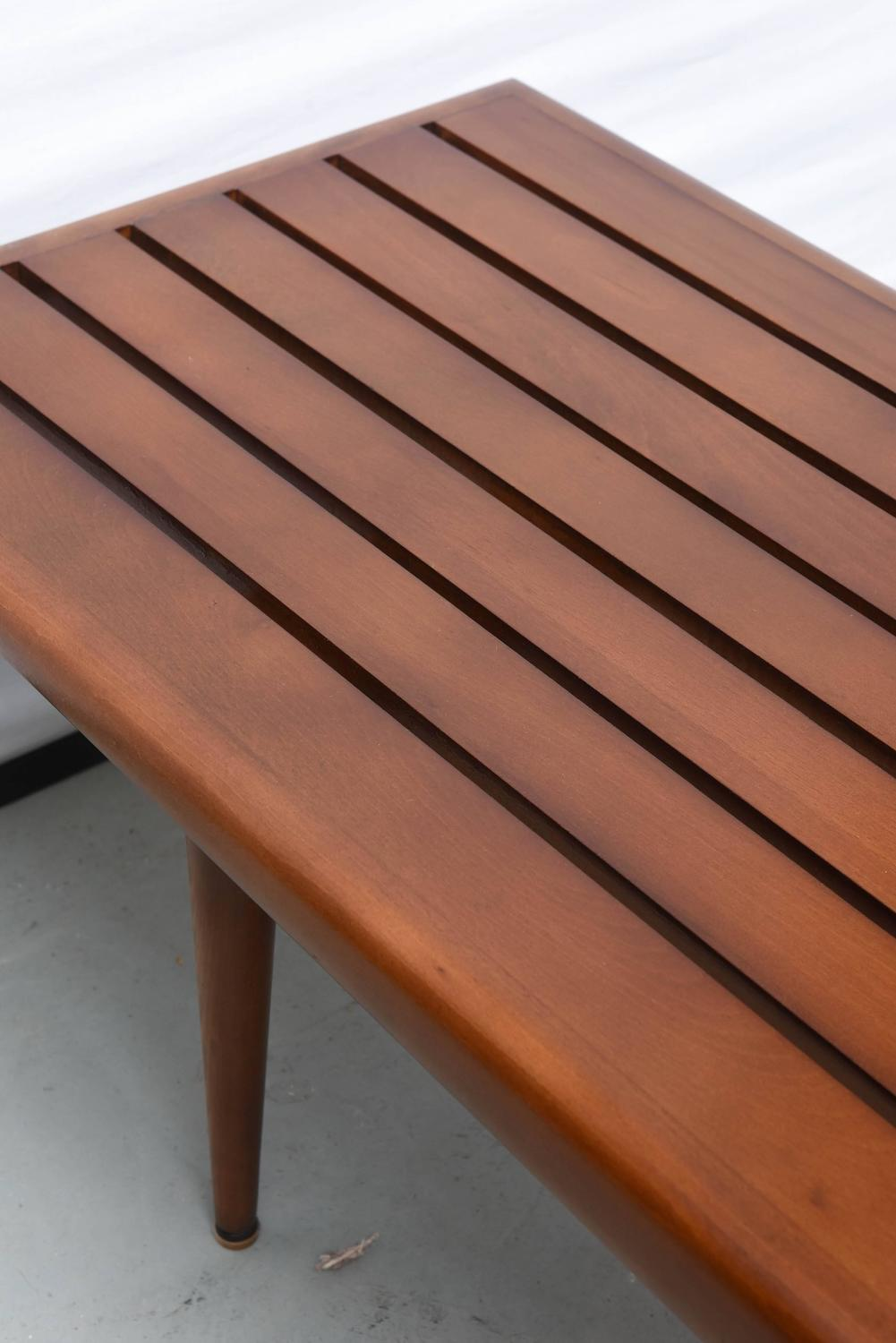 George Nelson Wood Bench 1960s Usa At 1stdibs