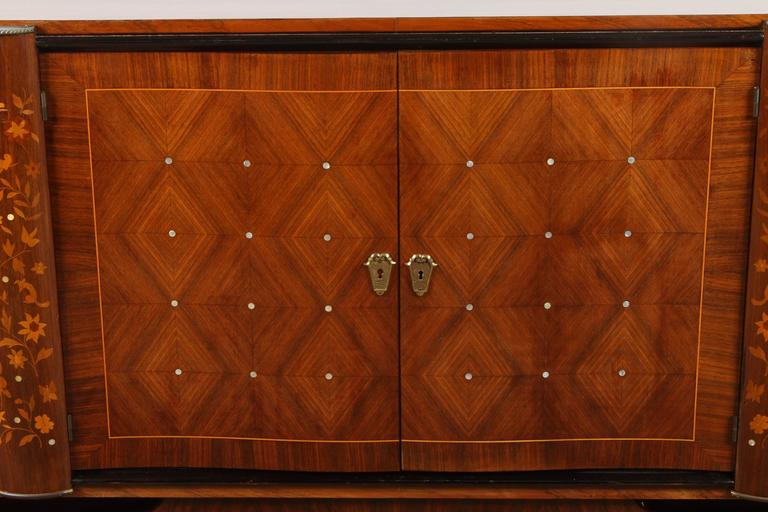 French Andre Leleu Art Deco Rosewood Sideboard For Sale