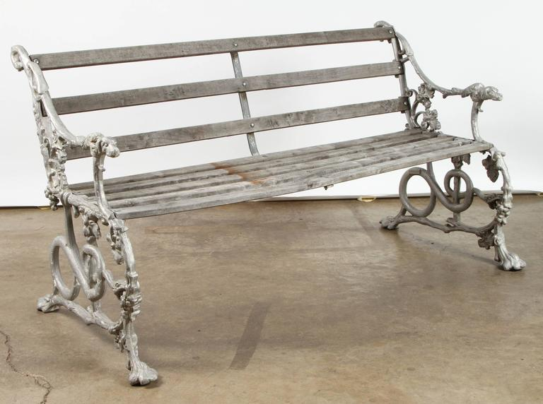 19th Century English Garden Bench For Sale