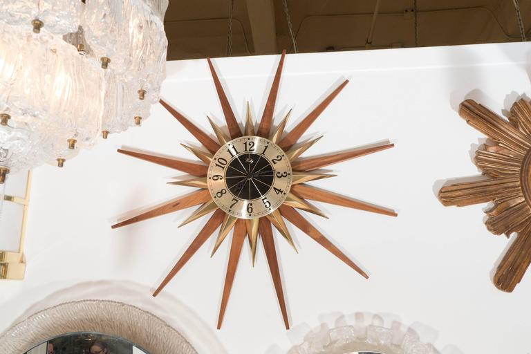 Starburst Wall Clock By Welby Division Elgin National