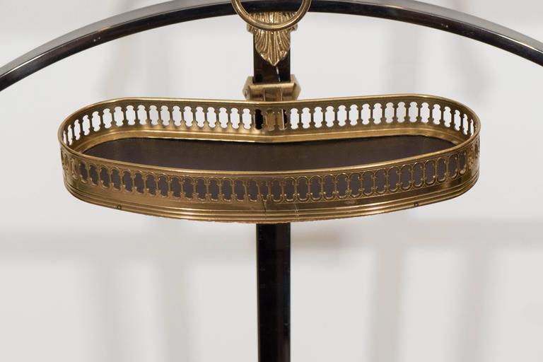 Mid-Century Maison Jansen Gentlemen's Valet in Polished Steel and Brass 4
