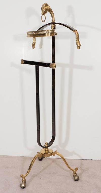 Mid-Century Maison Jansen Gentlemen's Valet in Polished Steel and Brass 5