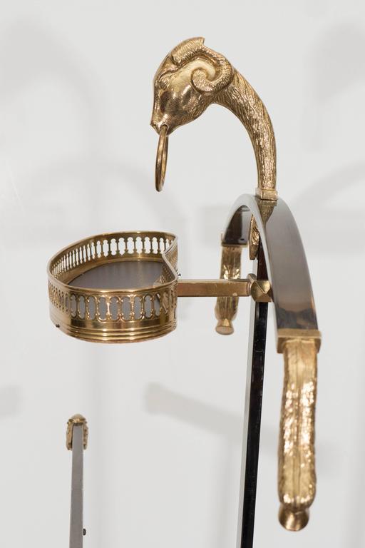 Mid-Century Maison Jansen Gentlemen's Valet in Polished Steel and Brass 7