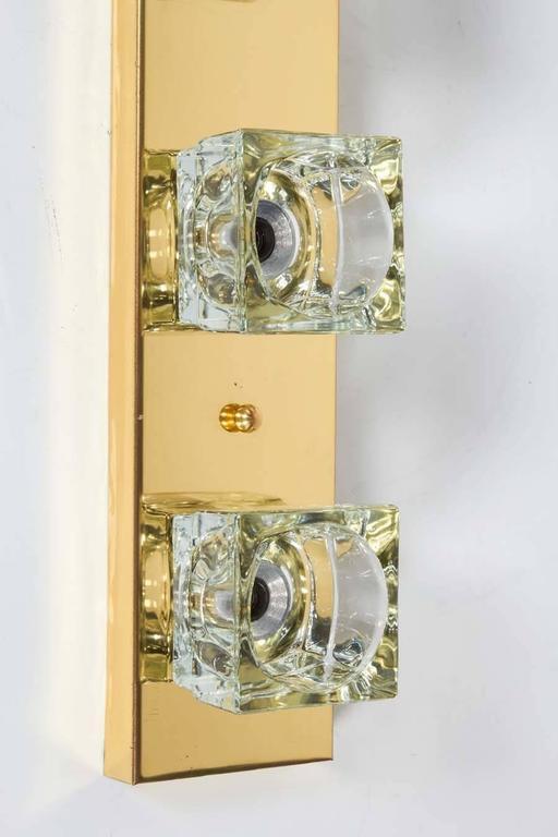 Mid-Century Vanity Light with Cubist Design in Brass by Sciolari for Lightolier  8