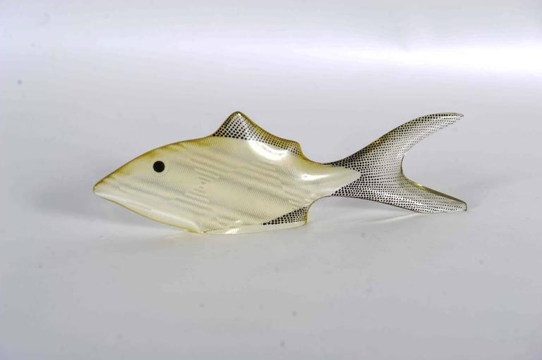 Set of 3 Midcentury Lucite Fish Designed by Brazilian Artist Abraham Palatnik In Good Condition For Sale In Doornspijk, NL