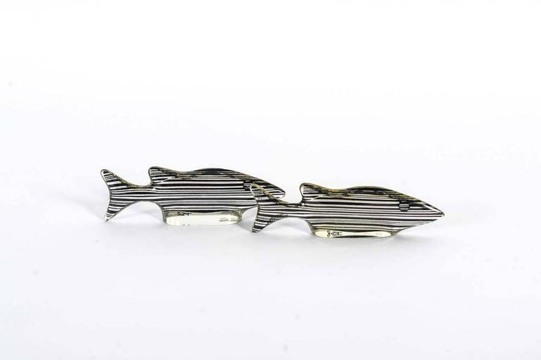 Set of 3 Midcentury Lucite Fish Designed by Brazilian Artist Abraham Palatnik For Sale 1