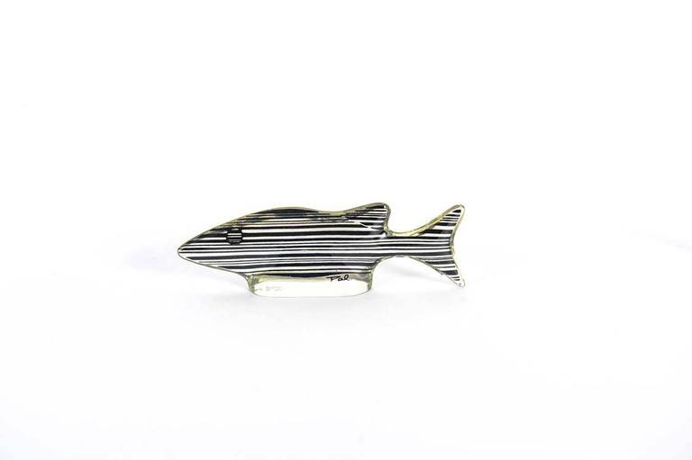 Set of 3 Midcentury Lucite Fish Designed by Brazilian Artist Abraham Palatnik For Sale 3