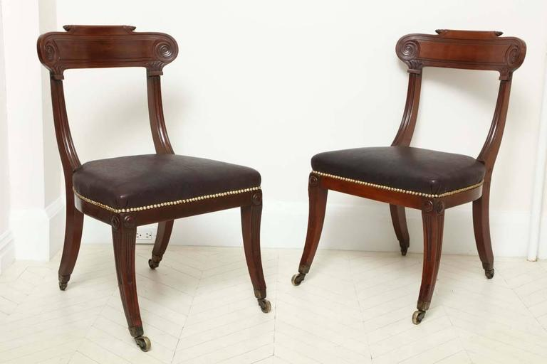 Pair of English Regency Mahogany Side Chairs 6