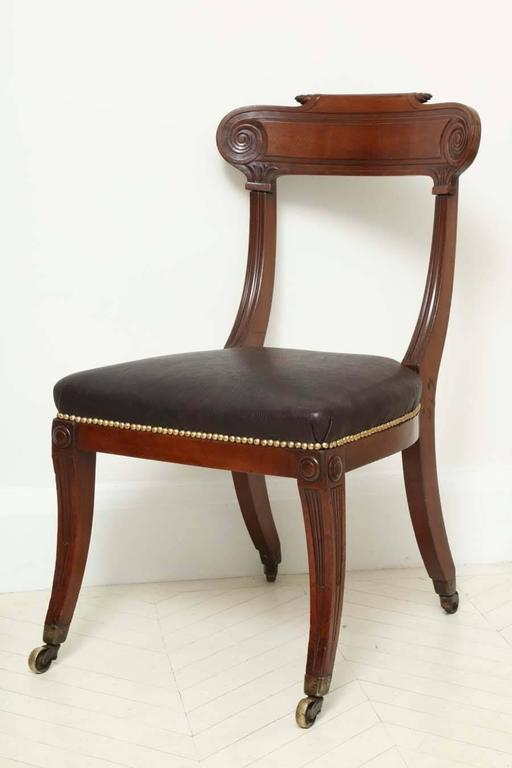 Pair of English Regency Mahogany Side Chairs 7