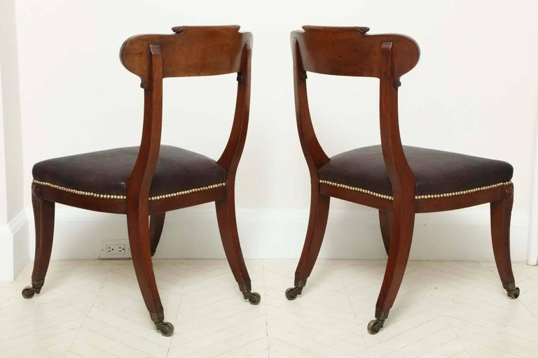 Pair of English Regency Mahogany Side Chairs 10