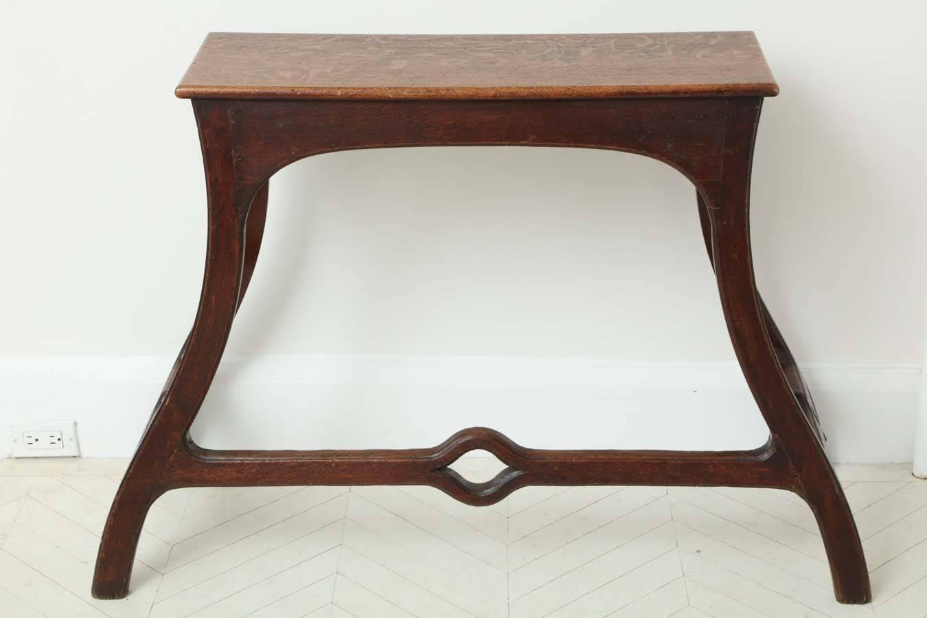 An unusual 19th century english oak arts and crafts for Arts and crafts sofa table