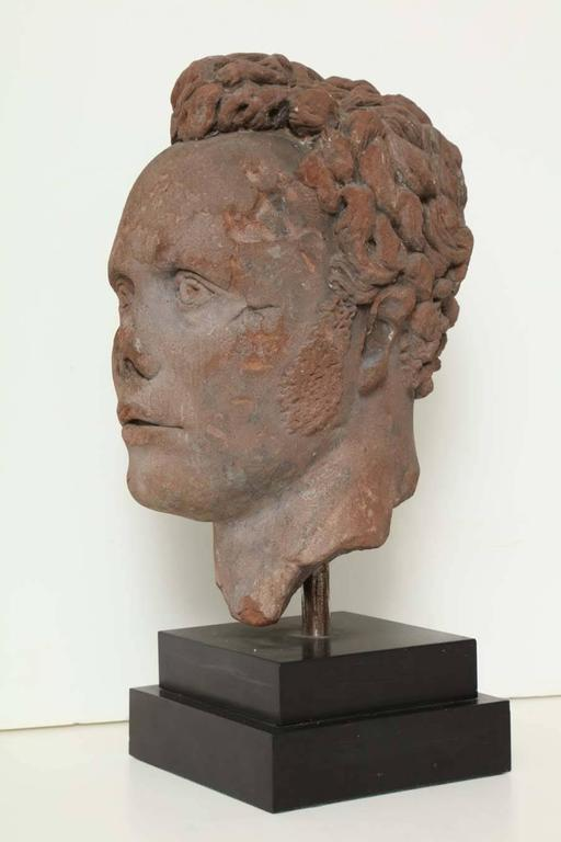 Early 19th Century Continental Carved Red Stone Bust 10