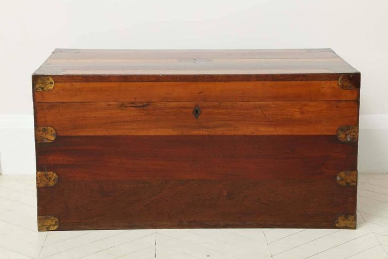 19th Century Portuguese Specimen Wood Travelling Chest 2