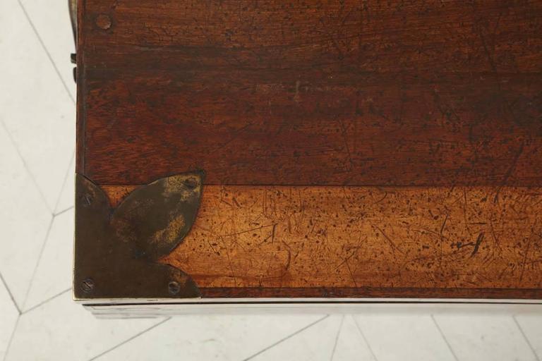 19th Century Portuguese Specimen Wood Travelling Chest 4