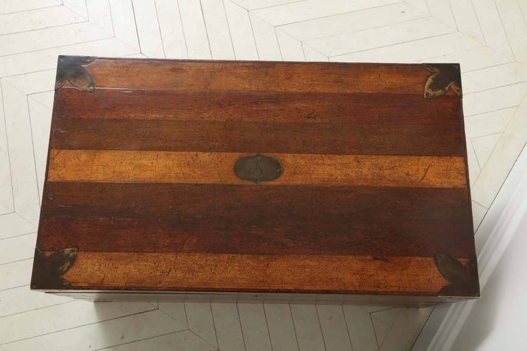 19th Century Portuguese Specimen Wood Travelling Chest 10