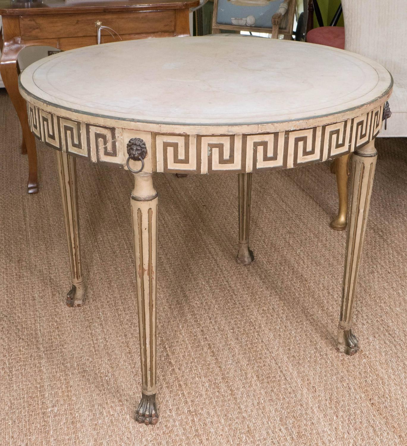 Italian Neoclassical Style Round Table For Sale At 1stdibs
