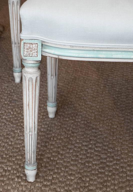 French Set of Louis XVI Style Dining Chairs