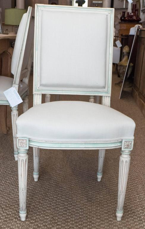 Set of Louis XVI Style Dining Chairs In Excellent Condition In New York, NY