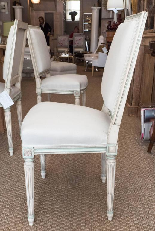 Set of Louis XVI Style Dining Chairs For Sale 1