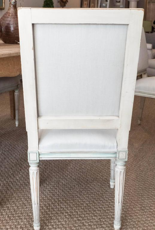 Set of Louis XVI Style Dining Chairs For Sale 2
