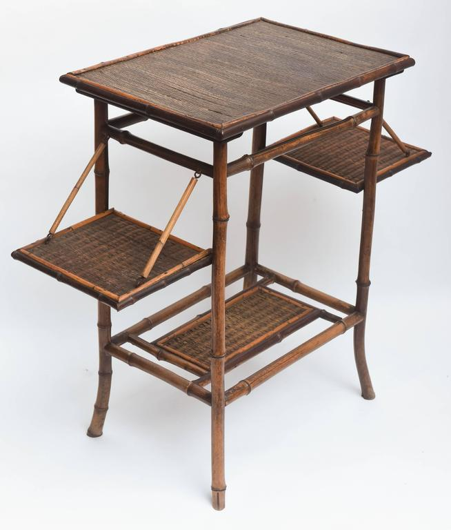 Rare 19th Century English Bamboo Tea Table Signed James Shoolbred, London For Sale 1