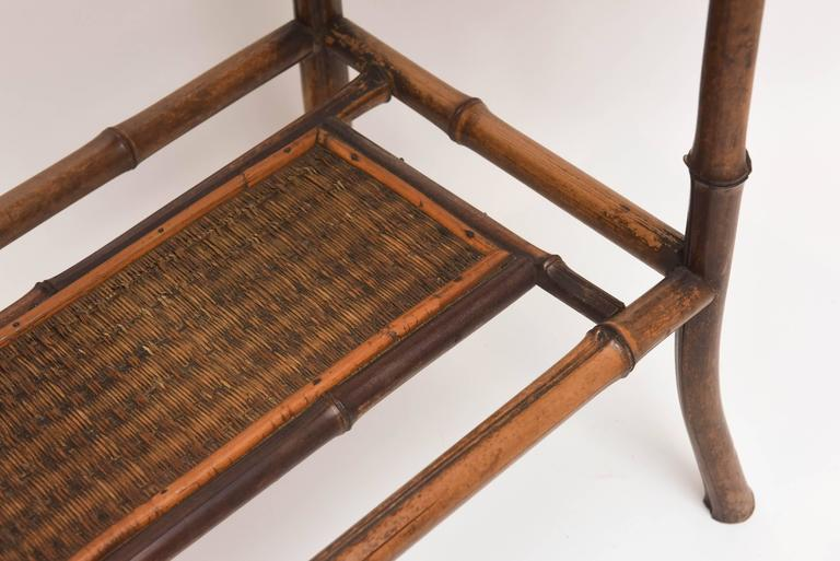 Rare 19th Century English Bamboo Tea Table Signed James Shoolbred, London For Sale 2