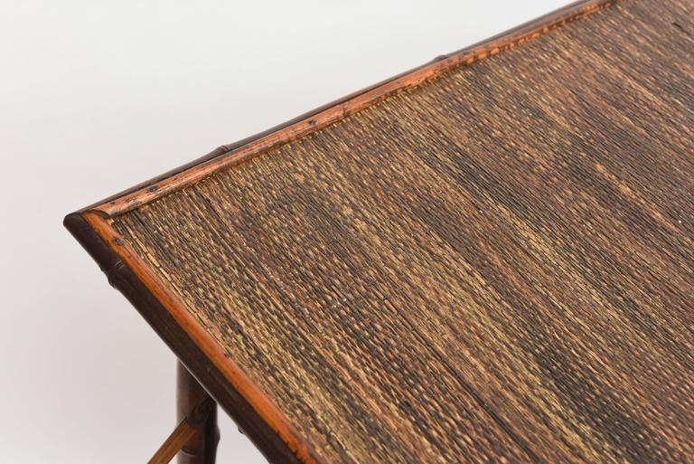Rare 19th Century English Bamboo Tea Table Signed James Shoolbred, London For Sale 3